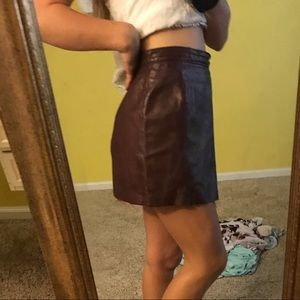 Dresses & Skirts - Maroon leather skirt